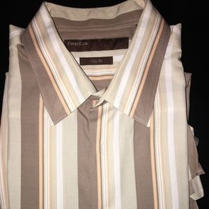 Perry Ellis Long Sleeve Button-up Shirt - City Fit